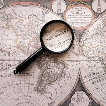 La mappa del mondo antico occidentale o atlantica
