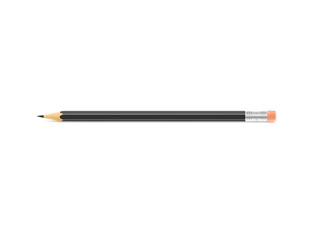 La matita nera si trova su fondo isolato