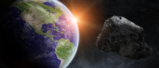 La minaccia di asteroidi sul pianeta terra