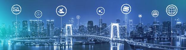 La moderna comunicazione creativa e la rete internet si connettono nella smart city