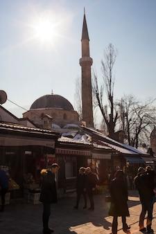 La moschea bascarsijska dzamija, sarajevo