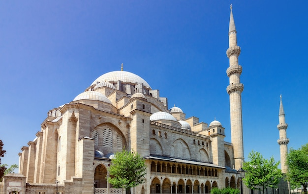 La moschea suleymaniye a istanbul, turchia