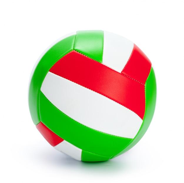 La palla per la pallavolo su uno sfondo bianco