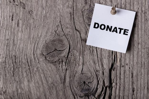 La parola donate