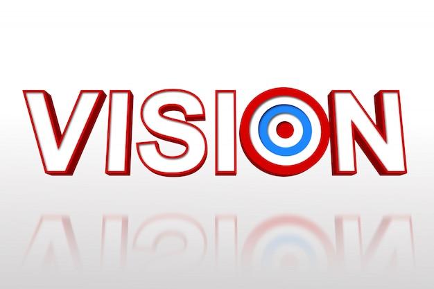 La parola visione con obiettivo