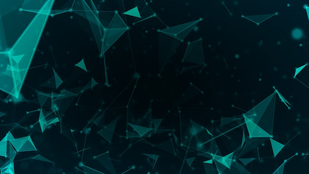 La rete astratta della tecnologia collega e fondo grafico del movimento futuristico del fondo di concetto di scienza degli atomi