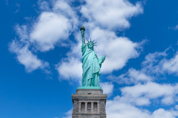 La statua della libertà, new york city, stati uniti d'america