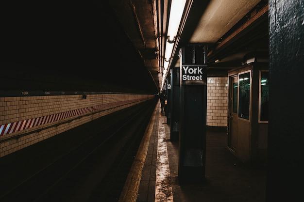 La stazione della metropolitana di new york