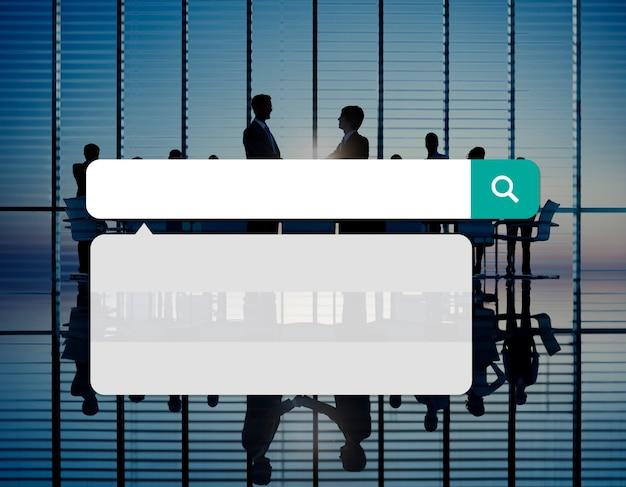 La tecnologia della scatola di ricerca internet sfoglia il concetto online di lettura rapida
