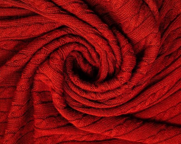 La trama del pregiato tessuto di lana. pieghe di lana morbida