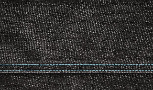 La trama del tessuto denim nero