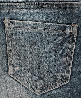 La trama della tasca in denim