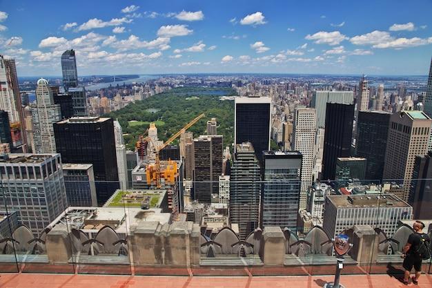 La vista dal centro di rockefeller a new york city, stati uniti