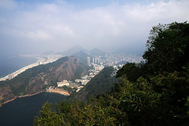 La vista su rio de janeiro, in brasile