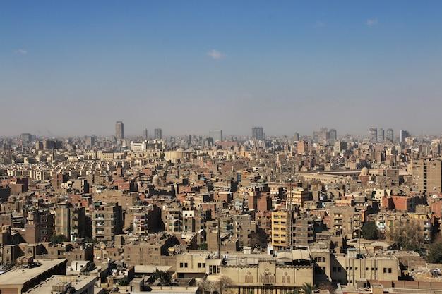 La vista sul centro del cairo, in egitto