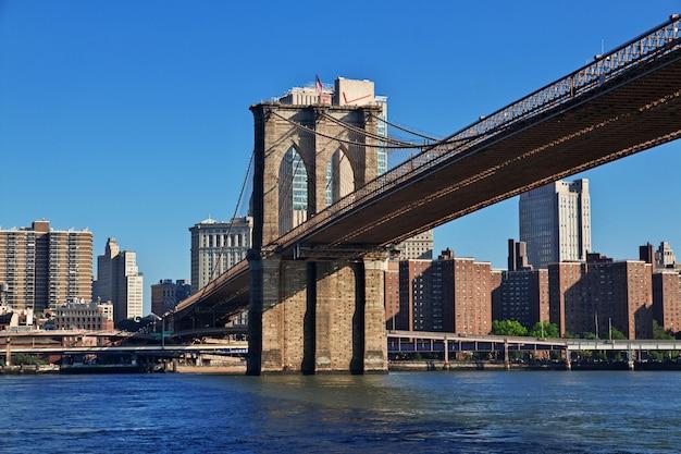 La vista sul centro, new york, stati uniti