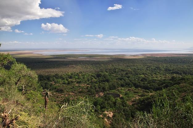 La vista sul parco nazionale di ngorongoro, tanzania