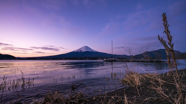 Lago mt. fuji mountain scenery