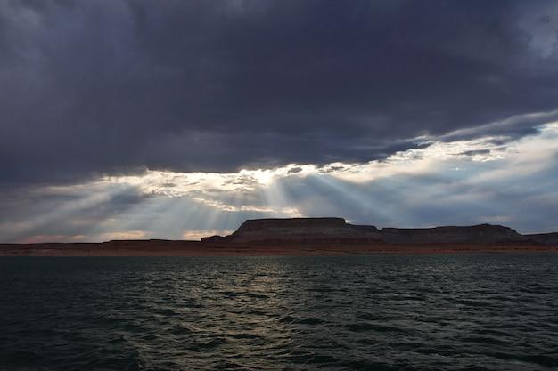 Lago powell in arizona, paige, stati uniti d'america