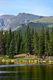 Lago scenico di colorado echo
