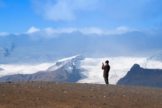 Laguna del ghiacciaio, jokulsarlon in islanda