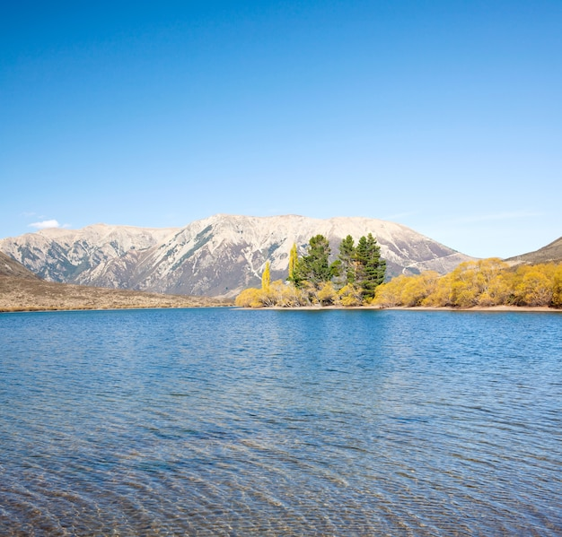 Lake pearson arthur's pass parco nazionale nuova zelanda