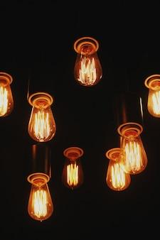 Lampada a sospensione in vetro marrone