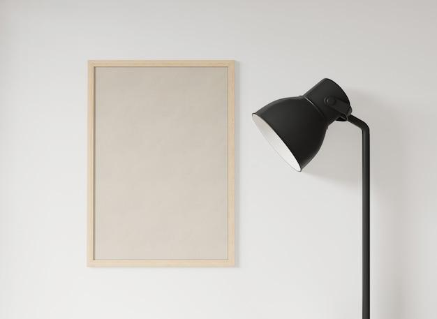 Lampada e cornice minimal in stile giapponese