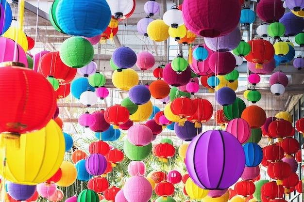 Lampada multicolore di capodanno chainese