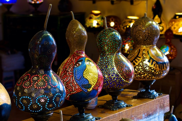 Lampade fatte a mano turche a base di zucche