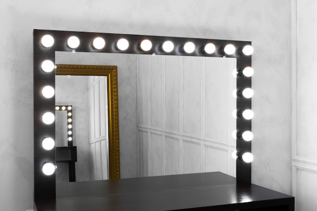 Lampadine a specchio a make up room