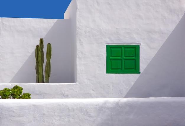 Lanzarote san bartolome tipica casa di cactus bianco
