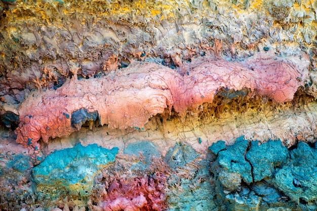 Lanzarote timanfaya pietra lavica colorata