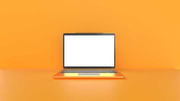 Laptop con schermo vuoto.