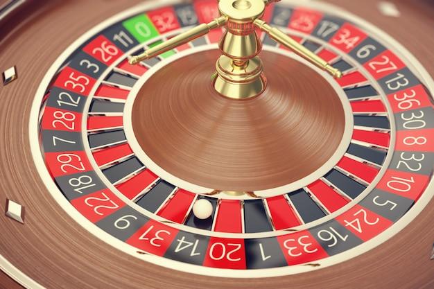 Las vegas casino roulette, casino roulette game, casino gambling concept rendering 3d.
