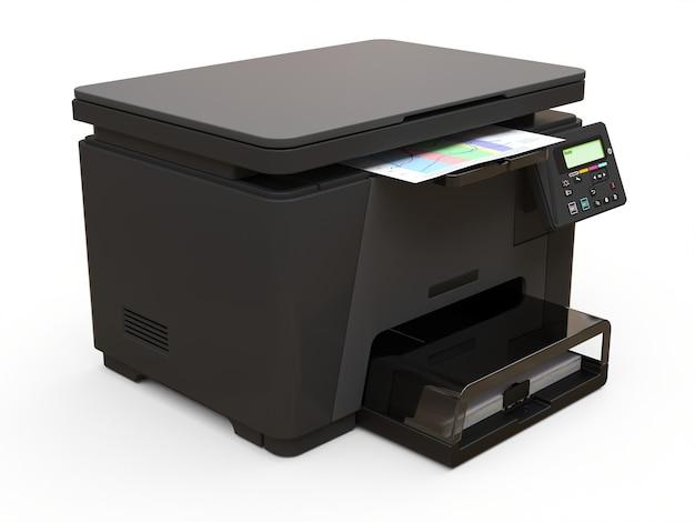 Laser mfp su sfondo bianco. illustrazione 3d