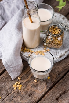 Latte di soia vegano non caseario