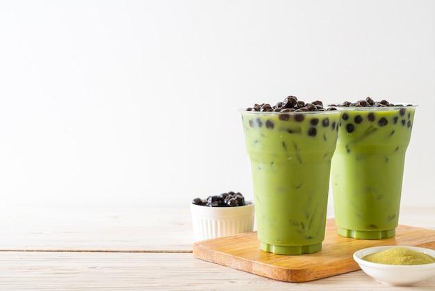 Latte di tè verde con bolla