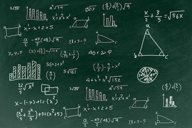 Lavagna con lo sfondo di formula matematica di scrittura