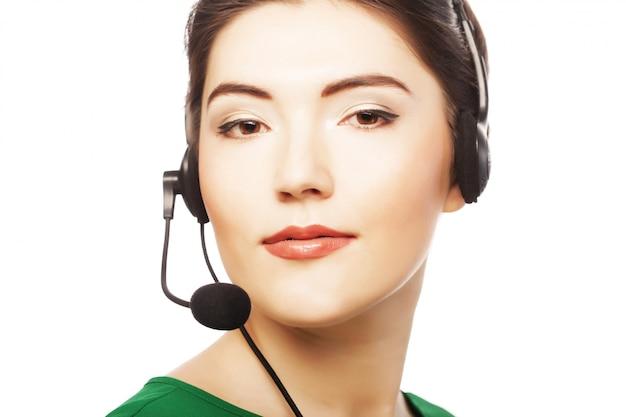 Lavoratore del servizio clienti donna