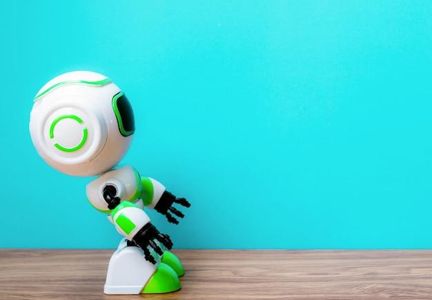 Lavoro di sostituzione umana di tecnologia robot del futuro sfondo vintage