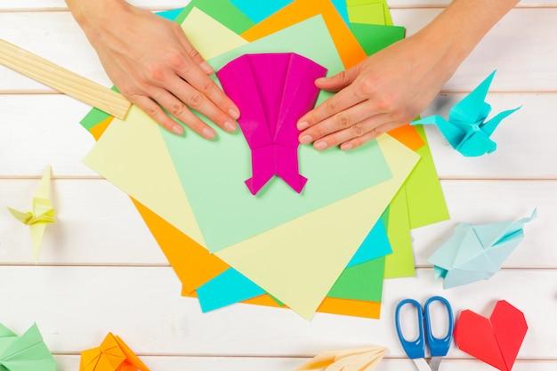 Le carte origami si chiudono
