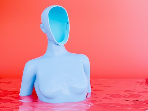 Le donne senza volto, rendering 3d