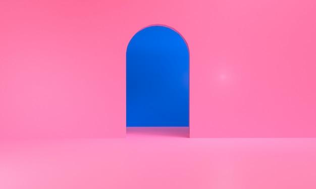 Le figure geometriche astratte minimaliste, 3d rendono.