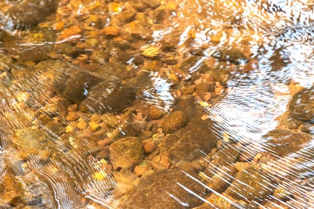 Le rocce sott'acqua si schiariscono di luce solare al mattino