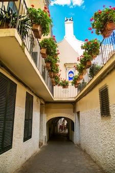 Le strade di tangeri. centro storico - medina.