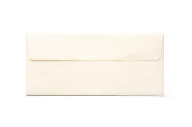 Lettera d'amore isolato su sfondo bianco. carta di nozze