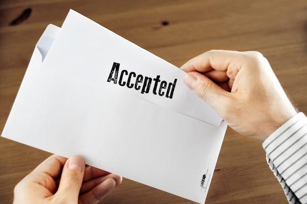 Lettera di benvenuto accettata