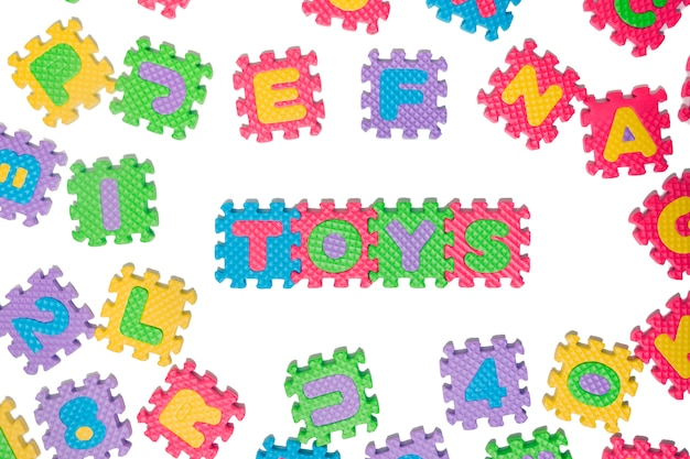 Lettera di puzzle di gomma piuma maiuscola