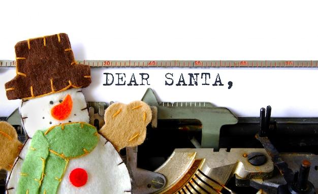 Lettera di santa cara vecchio testo della macchina da scrivere